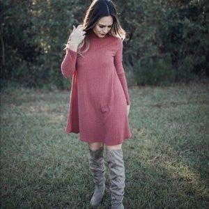 Dresses & Skirts - ✨Brick Swing Sweater Dress❤️